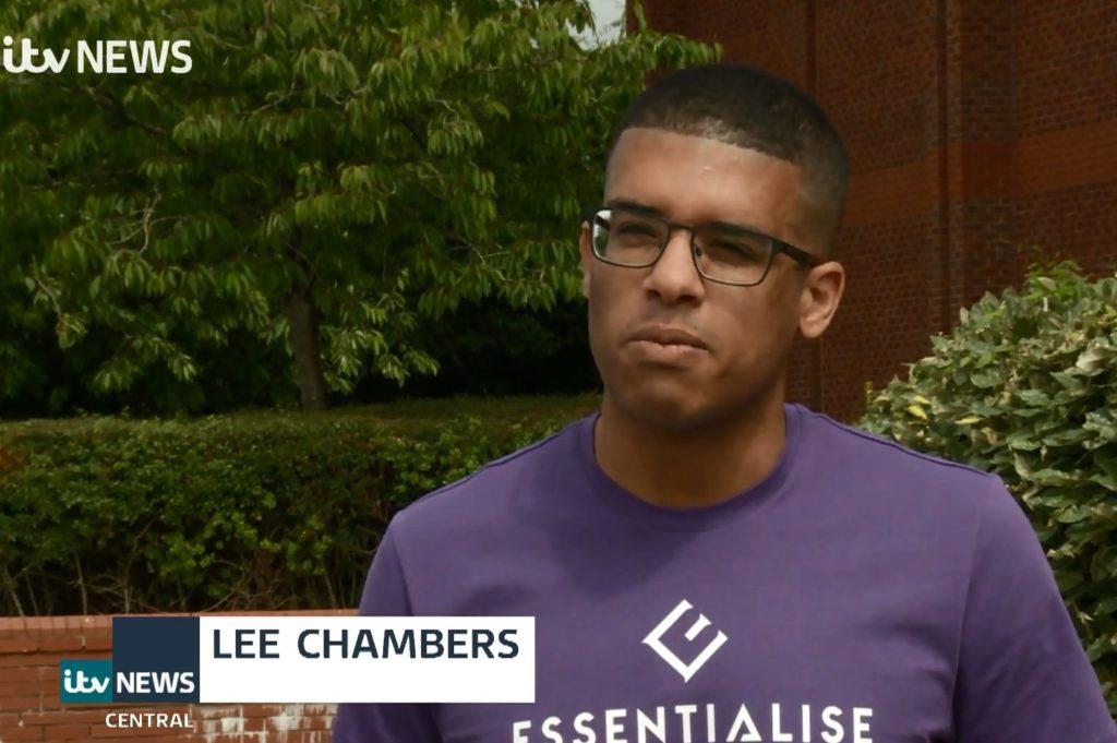 Lee Chambers British Psychologist on ITV News